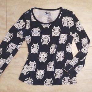 Girls Sz S 6/7 Old Navy ♡ heart owl shirt